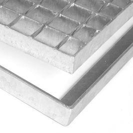 FLOMAT Kovová rohož ze svařovaných podlahových roštů bez gumy bez pracen Galva - 51,5 x 43 x 3,5 cm