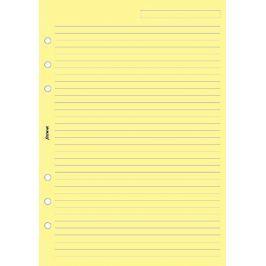 Náhradní náplň do diáře Filofax A5 papír linkovaný, žlutý, 25 listů