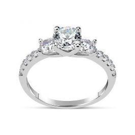 Silvego Zásnubní prsten CLAIRE ze stříbra se Swarovski Zirconia SHZR301 (Obvod 55 mm) stříbro 925/1000