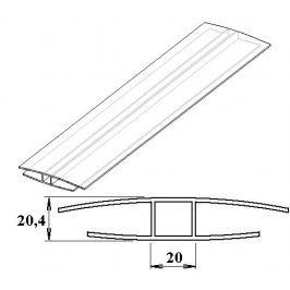 LanitPlast Polykarbonátový H-profil 16 mm 6 m