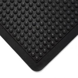 Černá gumová protiúnavová průmyslová rohož (25% nitrilová pryž) - 120 x 90 x 1,4 cm