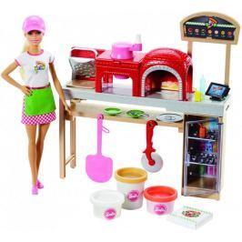Mattel Barbie vaření a pečení pizza herní set s panenkou