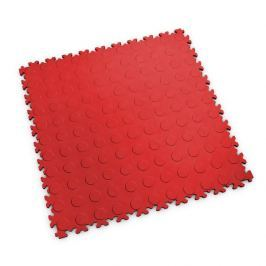 Fortelock Červená plastová vinylová zátěžová dlaždice Industry 2040 (penízky) - 51 x 51 x 0,7 cm
