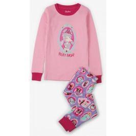 Hatley Dívčí pyžamo s pejsky - růžové 104