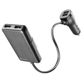 CellularLine Autonabíječka, 4 x USB, 7.2 A, černá
