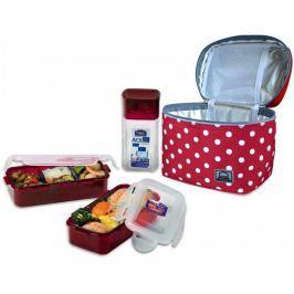 Lock&Lock Taška tečkovaná Lunch Boxes, červená