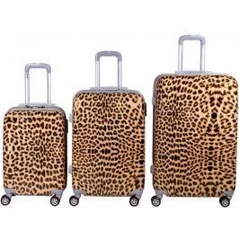 Leonardo Sada kufrů Leopard Print - rozbaleno