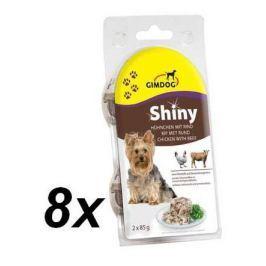 Gimpet SHINY DOG kuře + hovězí 8 x ( 2 x 85g )