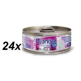 Monge NATURAL kuřecí maso s hovězím pro kočky 24 x 80 g