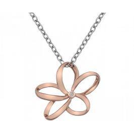 Hot Diamonds Stříbrný náhrdelník Hot Diamonds Paradise Rose Gold DP612 stříbro 925/1000