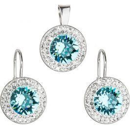 Evolution Group Sada á la Kate Middleton 39107.3 light turquoise stříbro 925/1000
