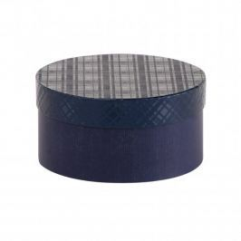 Dárková krabice Lucie 1, tmavě modrá kára - 20x10 cm