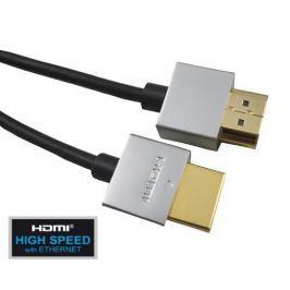 PremiumCord Slim HDMI High Speed + Ethernet kabel, 1 m