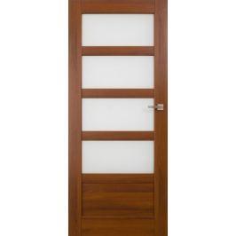 VASCO DOORS Interiérové dveře BRAGA kombinované, model 5, Kaštan, D
