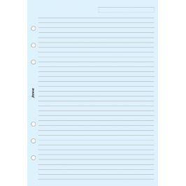 Náhradní náplň do diáře Filofax A5 papír linkovaný, modrý, 25 listů