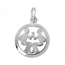 Brilio Silver Stříbrný přívěsek Blíženci 441 001 00612 04 - 0,98 g stříbro 925/1000