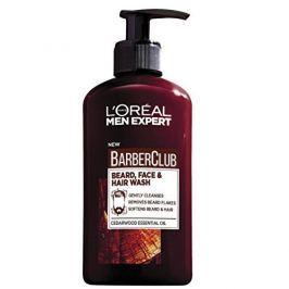 L'Oréal Gel na vousy, tvář a vlasy Barber Club Gel 3v1 (Beard, Face & Hair Wash) 200 ml
