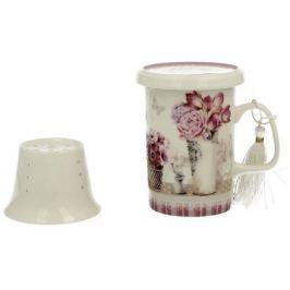 Marex Trade Hrnek na čaj s víčkem a čajítkem MIA 320ml v dárkovém balení