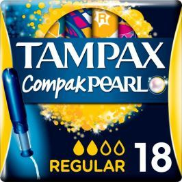 Tampax Compak Pearl Regular Tampony s aplikátorem 18 ks