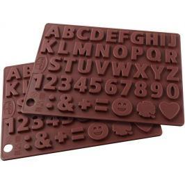 Dr.Oetker Silikonová forma na čokoládu čísla a písmenka 2 ks