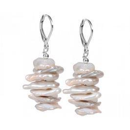 JwL Luxury Pearls Stříbrné náušnice s pravými perlami JL0311 stříbro 925/1000