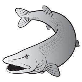 Delphin Nálepka Štika Silver