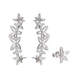 Preciosa Asymetrické květinové náušnice Cleopatra`s Secret 5207 00 stříbro 925/1000