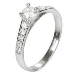 Brilio Dámský prsten s krystaly 229 001 00668 07 - 1,90 g (Obvod 56 mm) zlato bílé 585/1000