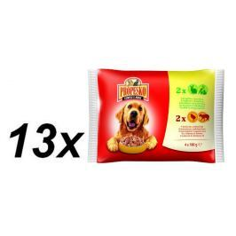 Propesko kapsa pes králík+zelenina+kuře+jehně 13x (4 x 100g)
