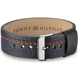 Tommy Hilfiger Černý kožený náramek TH2700686