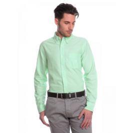 Chaps jednobarevná pánská košile XL zelená