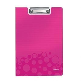 Podložka na psaní se zakrývací deskou Leitz WOW metalicky růžová