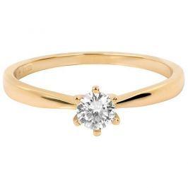 Brilio Něžný zásnubní prsten 226 001 01024 (Obvod 53 mm) zlato žluté 585/1000