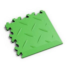 Fortelock Zelený plastový vinylový rohový nájezd 2016 (diamant) - 14 x 14 x 0,7 cm