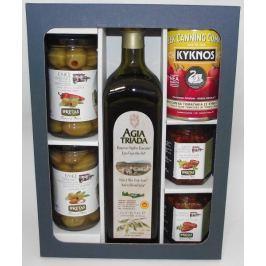 Degustace řeckých specialit a olivového oleje Agia Triada v dárkové kazetě
