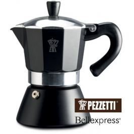 Pezzetti Bellexpress konvice s okénkem černá, 6 šálků, 300ml
