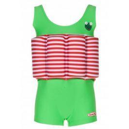 Beverly Kids Chlapecké nadnášející plavky Frogboy 86 zeleno-červené