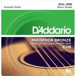 Daddario EJ18 Kovové struny pro akustickou kytaru