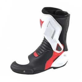 Dainese boty NEXUS vel.44 černá/bílá/červená (lava), kůže/textil (pár)