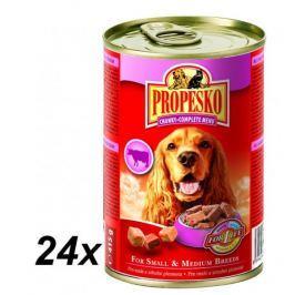 Propesko kousky pes hovězí+zvěřina+kuře 24 x 415g