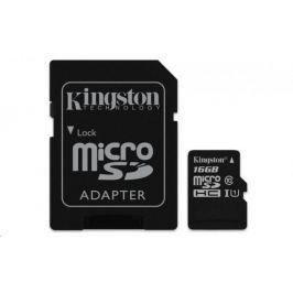 Kingston Micro SDHC Canvas Select 16GB 80MB/s UHS-I + SD adaptér (SDCS/16GB)