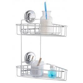 Compactor Dvojitá rohová polička do koupelny bez vrtání