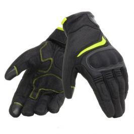 Dainese rukavice AIR MASTER vel.3XS Unisex, černá/fluo-žlutá, textil/kůže, letní