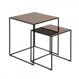 Design Scandinavia Konferenční stolky Bronze, sada 2 ks
