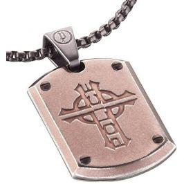 Police Bronzový pánský náhrdelník Powler PJ25607PSEBR-C