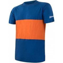 Sensor Merino Air PT pánské triko kr.rukáv modrá/oranžová M