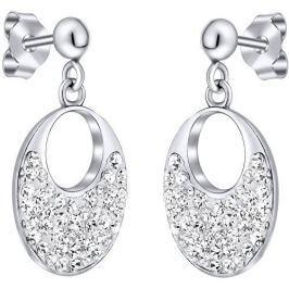 Silvego Stříbrné náušnice se Swarovski krystaly stříbro 925/1000