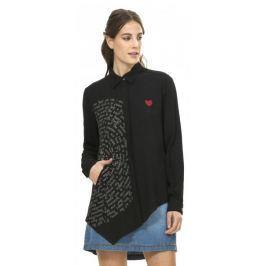 Desigual dámská asymetrická košile S černá