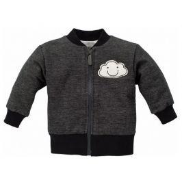 PINOKIO Dětský kabátek Happy day - tmavě šedý 68