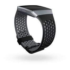 Fitbit Ionic - sportovní řemínek Černošedý - velikost L